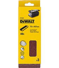 Шлифленты DEWALT DT3640, 75 x 457 мм, 40G, 3 шт.