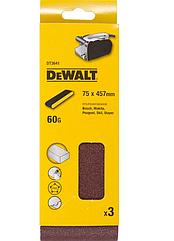 Шлифленты DEWALT DT3641, 75 x 457 мм, 60G, 3 шт.