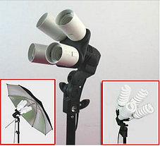 2 зонта 110 см на просвет на стойках с головками на 4 лампы  с люминесцентными лампами 1, фото 3