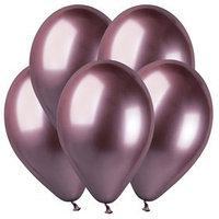 Шар латексный 14', хром, набор 50 шт., цвет розовый