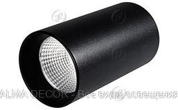 Светильник накладной SP-POLO-R85-1-15W Warm White 40deg (Black, Black Ring)