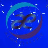 Светодиодная гирлянда ARD-EDGE-CLASSIC-2400x600-WHITE-88LED-FLASH BLUE (230V, 6W)