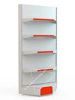 Угловой торговый металлический секционный сборно-разборный стеллаж