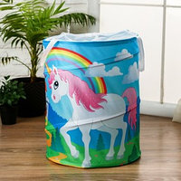 Корзинка для игрушек 'Единорог и радуга' 35x35x45 см
