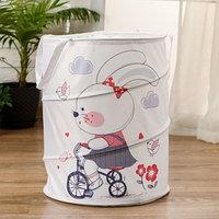 Корзинка для игрушек 'Зайка на велосипеде'35x35x45 см