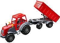 158 Трактор с прицепом/самосвал 56*18см