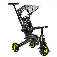 Детский трехколесный велосипед Pituso Leve складной Yellow