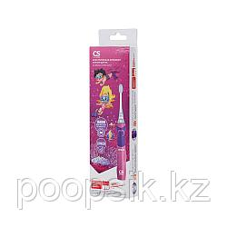 Детская электрическая звуковая зубная щетка CS Medica Junior розовая