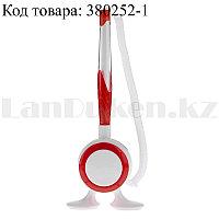 Ручка шариковая на подставке с пружинкой (стержень синий) красная