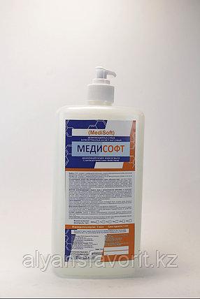 МедиСофт-  дезинфицирующее жидкое мыло с антисептическим свойством .1 литр .РК, фото 2