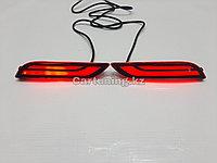 LED катафоты в задний бампер (RED) на Toyota Camry 70