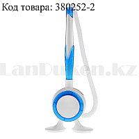 Ручка шариковая на подставке с пружинкой (стержень синий) синяя
