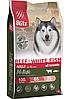 Беззерновой сухой корм для собак всех пород Blitz Holistic Beef & White Fish Adult Dog говядина белая рыба