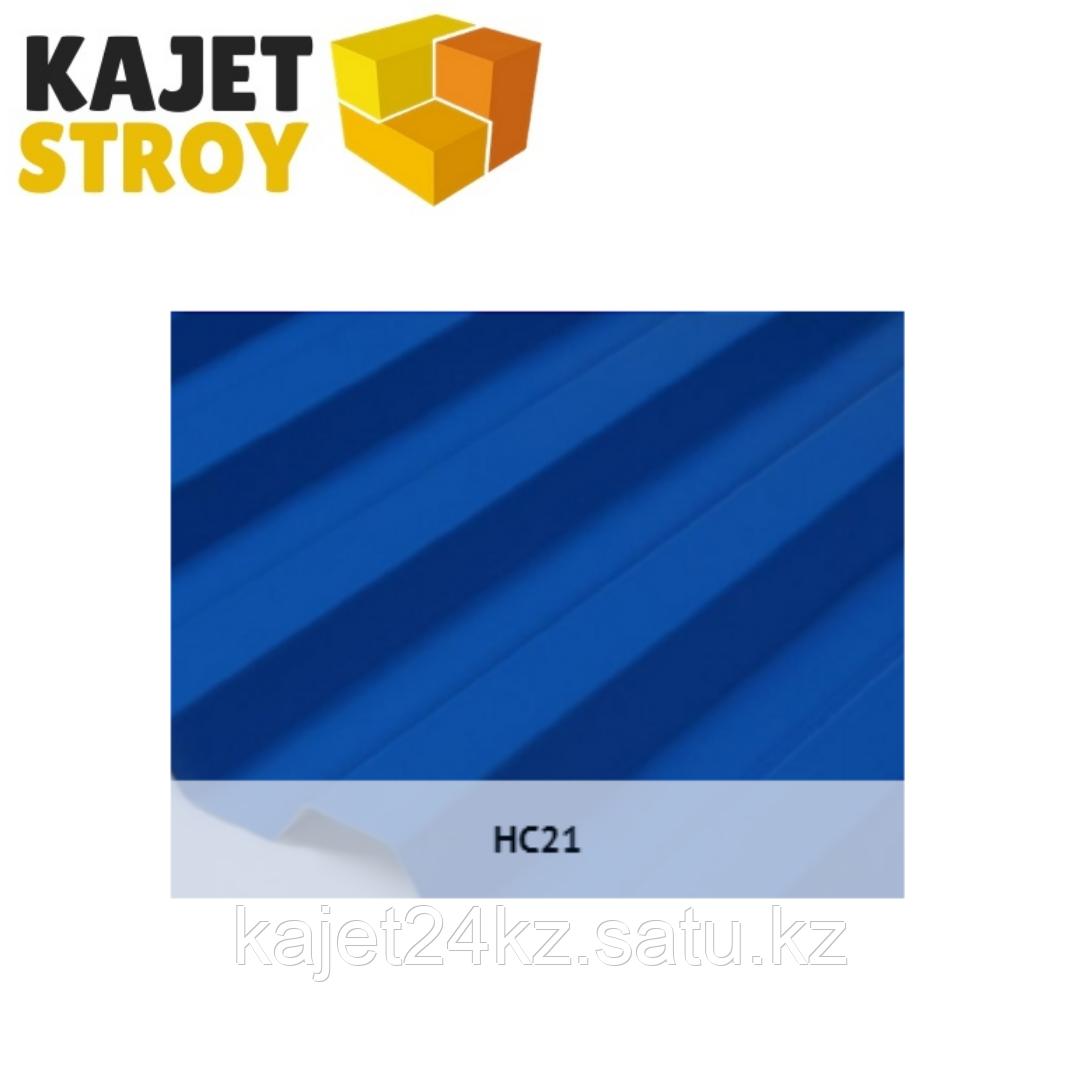 Профлист оцинкованный HC21 (ГОСТ 24045-94) Толщина 0,65мм, габарит/монтаж ширина 6 х 1,05/1,00м