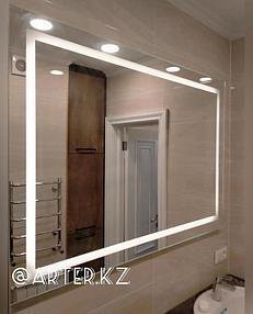 Зеркало с LED подсветкой и пескоструйным рисунком, 950(В)мм х 1300(Ш)мм