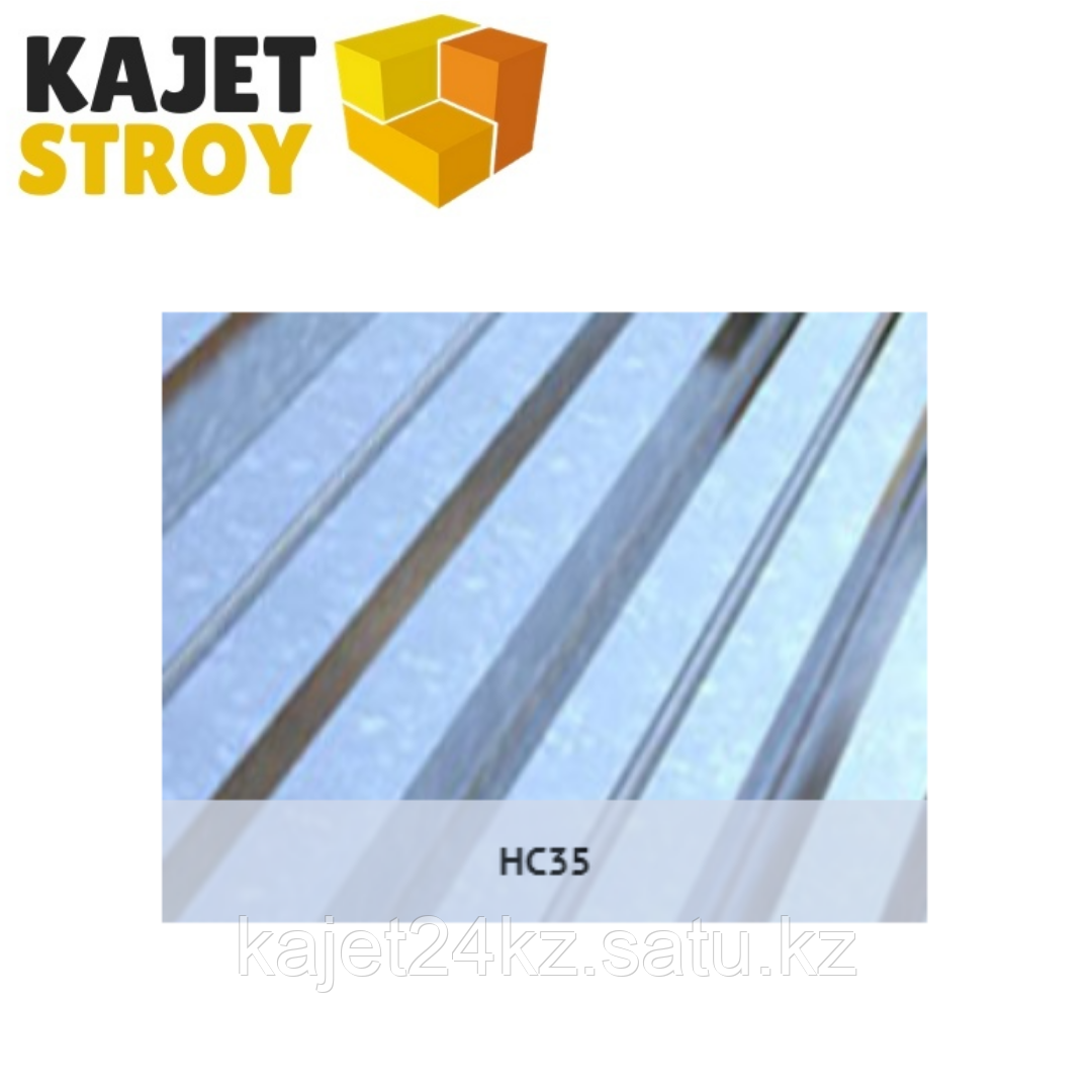 Профлист оцинкованный HC35 (ГОСТ 24045-94) Толщина 0,65мм, габарит/монтаж ширина 6 х 1,02/0,95м