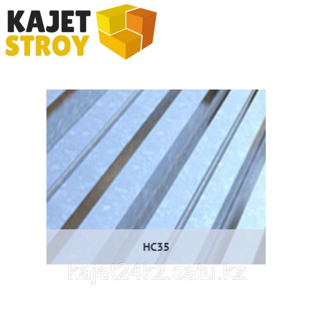 Профлист оцинкованный HC35 (ГОСТ 24045-94) Толщина 0,80мм, габарит/монтаж ширина 6 х 1,02/0,95м