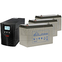 Комплект для защиты газовых котлов ИБП East EA900Pro-H 1kVA + 3 АКБ 100 Ач