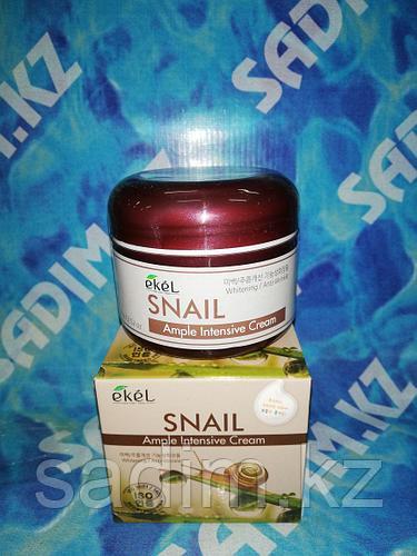 Ekel Snail Ample Intensive Cream - Улиточный крем для лица и контура глаз