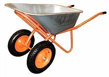 Тачка садово-строительная 2 колеса IVT 250кг.110л.