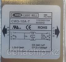 Фильтр питания 10А 220VAC с клеммой заземления