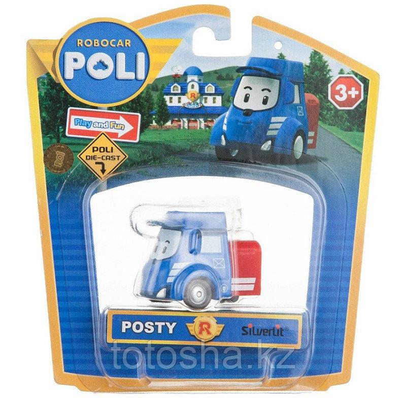 Robocar Poli Пости металлическая машинка 6 см , 83177
