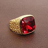 """Кольцо-перстень """"Красный рубин"""", фото 3"""