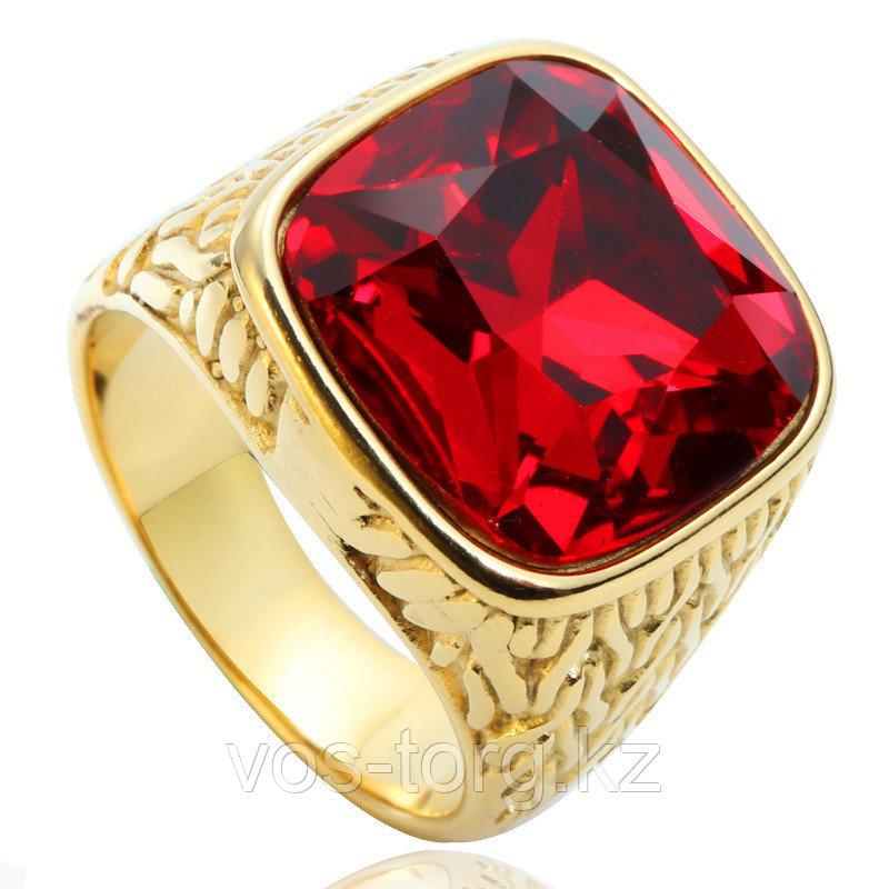 """Кольцо-перстень """"Красный рубин"""""""