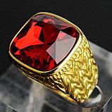 """Кольцо-перстень """"Красный рубин"""", фото 2"""