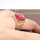 """Кольцо-перстень """"Красный рубин"""", фото 5"""