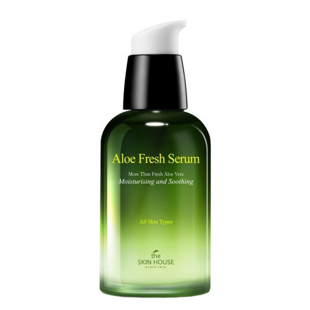 The Skin House Aloe Fresh Serum. Сыворотка для лица Увлажняющая и успокаивающая сыворотка с экстрактом алоэ.