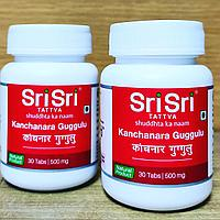 Канчнар Гуггул Шри Шри - Канчанара Гуггул  (Kanchanara Guggulu Sri Sri ) - кисты, мастопатия, лимфаденит, 30т