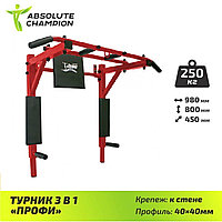 Турник 3 в 1 ПРОФИ ABSOLUTE CHAMPION (6 расцветок)