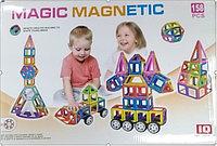Детский магнитный конструктор magic magnetic 158 деталей модель NO.JH8613
