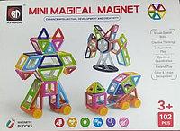 Детский магнитный конструктор magic magnetic 102 детали модель NO.718