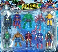 Детские игрушки супергерои набор из 10 фигурок