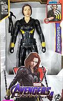 Детская игрушка супергерой черная вдова в чёрной одежде