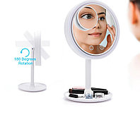 Сенсорное светодиодное зеркало с вентилятором и лупой 5х Breeze Beauty