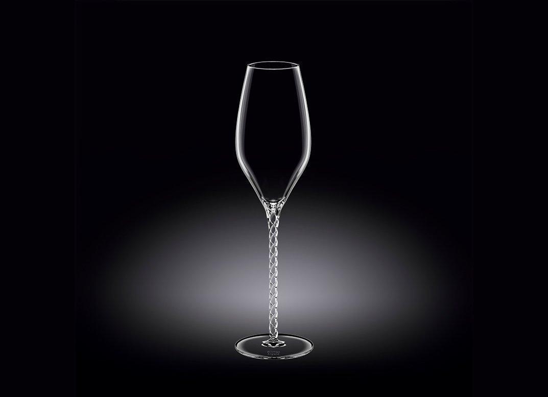 Набор бокалов 300 мл от Юлии Высоцкой Wilmax флюте для шампанского 2 шт цв.уп.