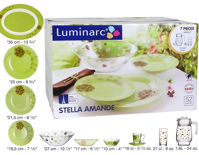 Столовый сервиз Luminarc Stella Amande 52 предмета на 6 персон