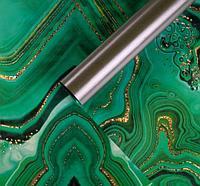 Бумага упаковочная глянцевая двусторонняя «Малахит», 70 × 100 см