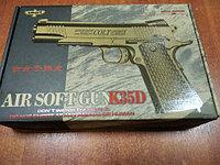 Детский металлический страйкбольный пистолет airsoft gun Модель K35D