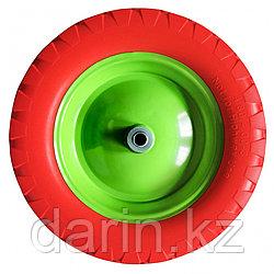 Колесо полиуретановое 4.80/4-8, длина оси 80 мм, подшипник 20 мм Сибртех
