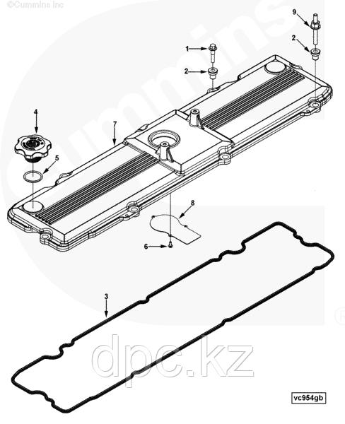 Крышка клапанного механизма Cummins ISL8.9 3967762 3970866 3970865