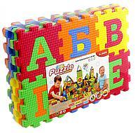 Детские коврик пазл буквы плюс цифры