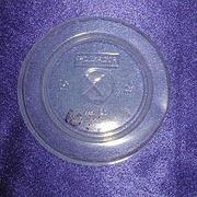 Крышка д/стаканов, d 90мм, п/прозрачн., центральное отверстие, ПС, 1800 шт