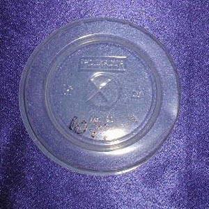 Крышка д/стаканов, d 90мм, п/прозрачн., центральное отверстие, ПС, 1800 шт, фото 2