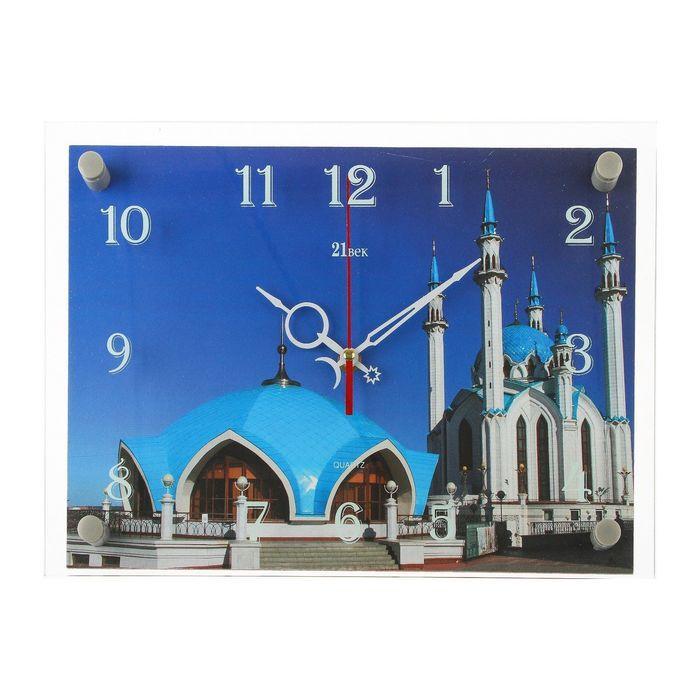 """Часы настенные, серия: Город, мечеть """"Кул Шариф"""", микс 25х35 см"""