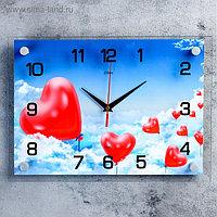 """Часы настенные, серия: Люди, """"Воздушные сердца"""", 25х35 см, микс"""
