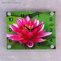 """Часы настенные, серия: Цветы, """"Розовый лотос"""", 20х26 см, микс"""